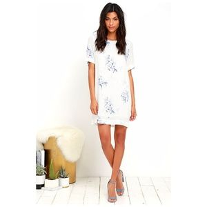 Gentle Fawn Outlines Ivory Floral Shift Dress